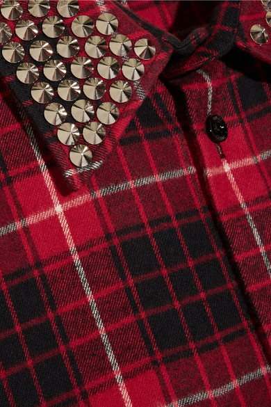 898ad2fac6 Embellished plaid cotton-flannel shirt.  550. Play
