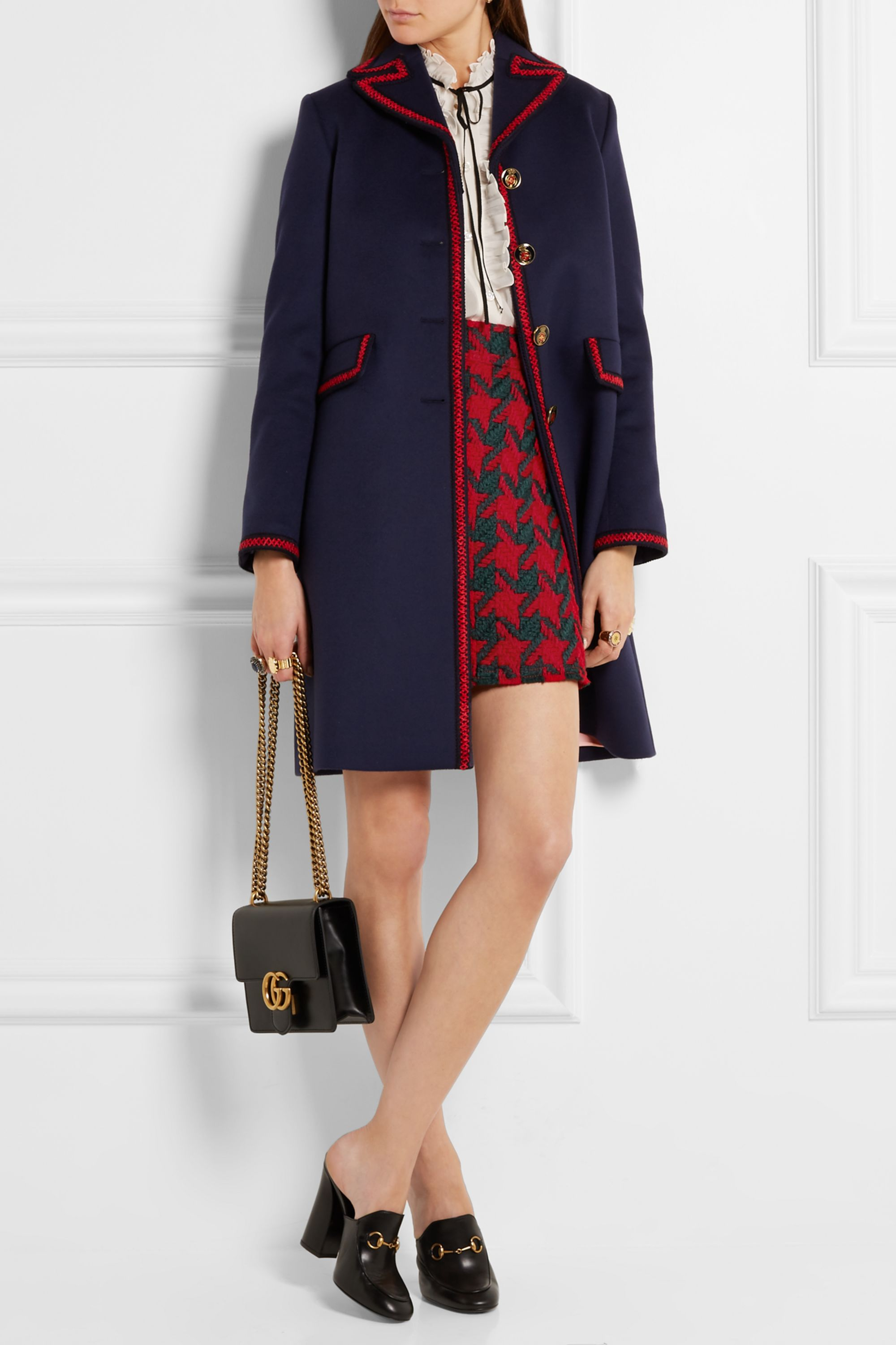 Gucci Ruffled cotton and silk-blend georgette shirt