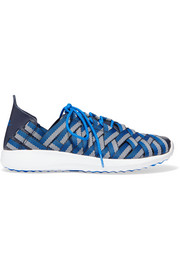 Nike Juvenate leather-trimmed woven grosgrain sneakers