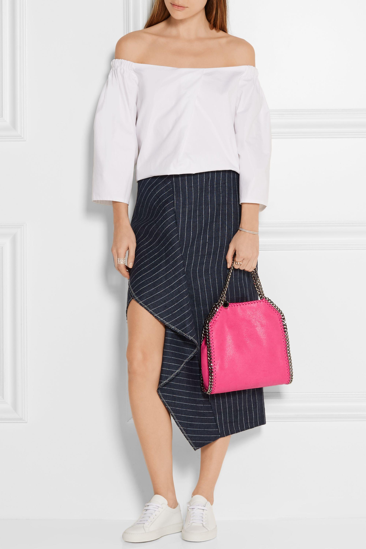 Stella McCartney The Falabella mini faux brushed-leather tote