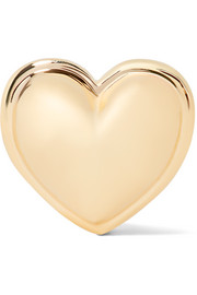 Heart 14-karat gold earring