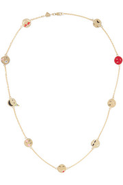 Super Emotional 14-karat gold enamel necklace