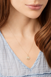 Medium Happy 14-karat gold diamond necklace