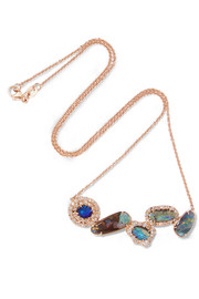 Kimberly McDonald 18-karat rose gold, opal and diamond necklace