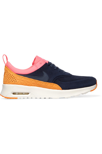 Air Max Thea suede and leather sneakers