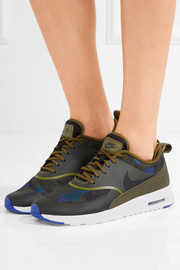 Air Max Thea leather and jacquard sneakers