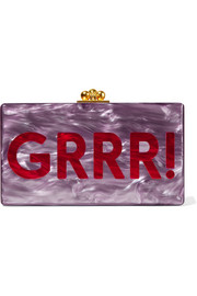Jean Grrr! glittered acrylic box clutch
