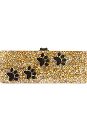Flavia glittered acrylic box clutch