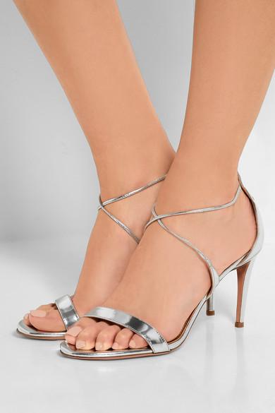 Linda Metallic Leather Sandals Aquazzura ZB10Ew9x
