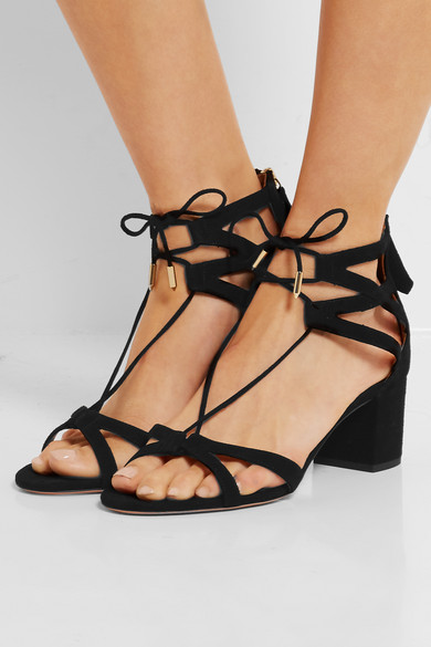 Aquazzura Beverly Hills Suede Sandals Net A Porter Com
