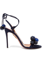 Disco Thing pompom-embellished suede sandals