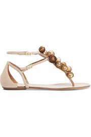 Disco Infra embellished suede sandals