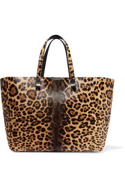 Victoria Beckham Simple Shopper leopard-print calf hair tote