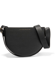 Baby Half Moon textured-leather shoulder bag