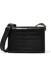 Victoria Beckham Mini croc-effect leather shoulder bag