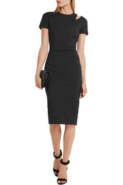 Victoria Beckham Cutout stretch cotton-blend dress