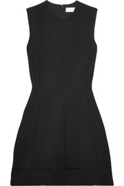 Ajoure stretch-cady mini dress