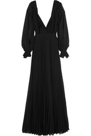 Victoria Beckham Pleated silk-georgette gown