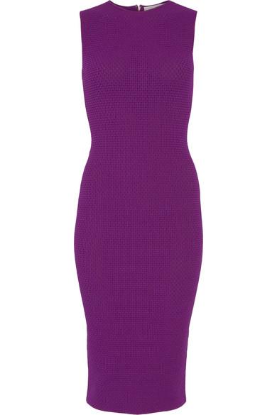Victoria Beckham - Elite Crocheted Dress - Purple