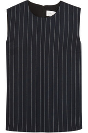 Victoria, Victoria Beckham Pinstriped wool-blend and crepe top
