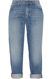 Neat cropped low-rise boyfriend jeans