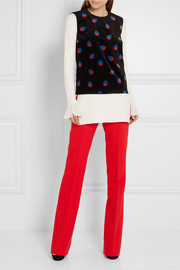 Victoria, Victoria Beckham Wool-blend crepe flared pants