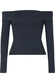 Michelle Mason Off-the-shoulder stretch-ponte top