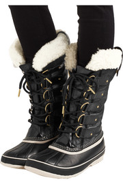 Joan of Arctic waterproof shearling-trimmed leather boots