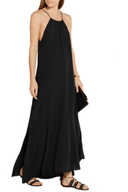 Theory Ressie silk crepe de chine maxi dress