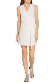 Theory Benina crepe wrap playsuit