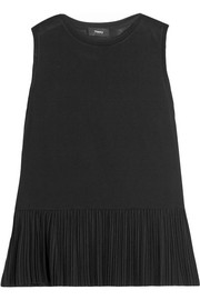 Elvnee pleated stretch-jersey top