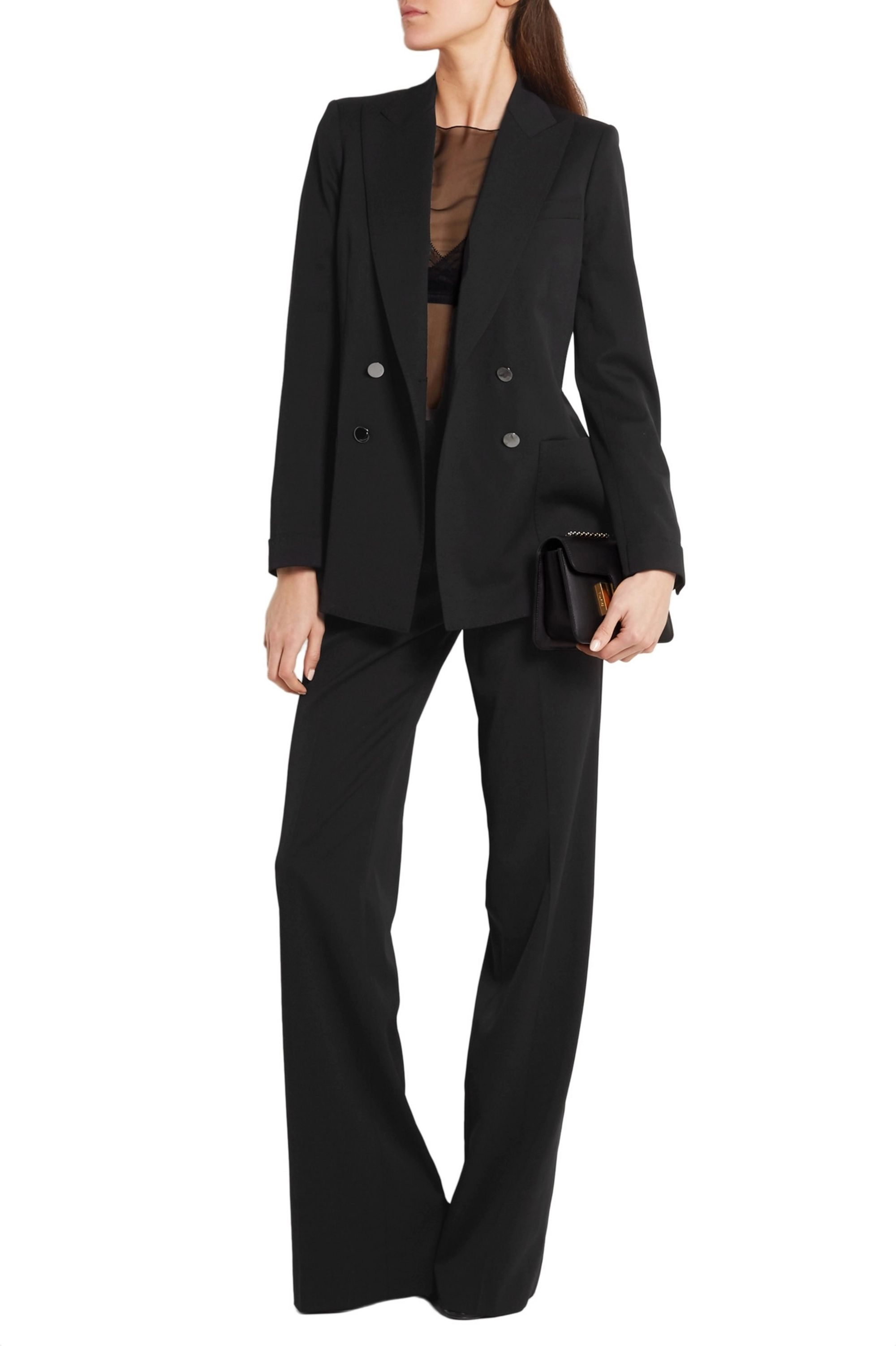 TOM FORD Double-breasted stretch-wool gabardine blazer