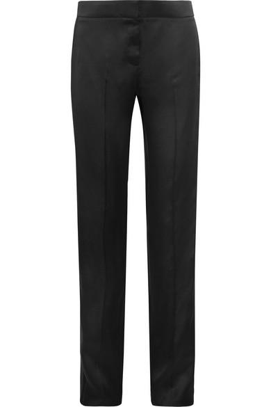 tom ford female 188971 tom ford silksatin straightleg tuxedo pants black
