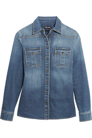 Stretch-denim shirt