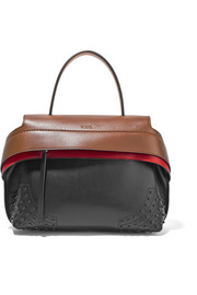 Wave large appliquéd leather tote