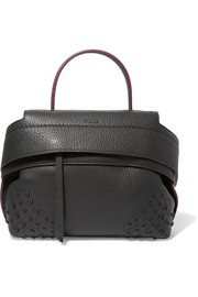 Wave medium textured-leather tote