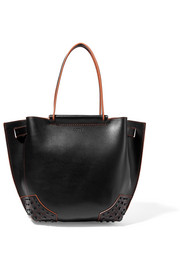 Wave Shopping two-tone leather tote