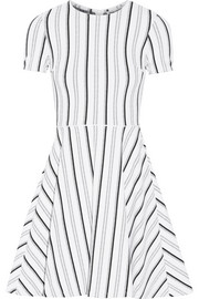 Clos striped textured-jersey mini dress