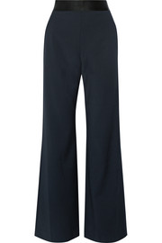 Focal crepe wide-leg pants