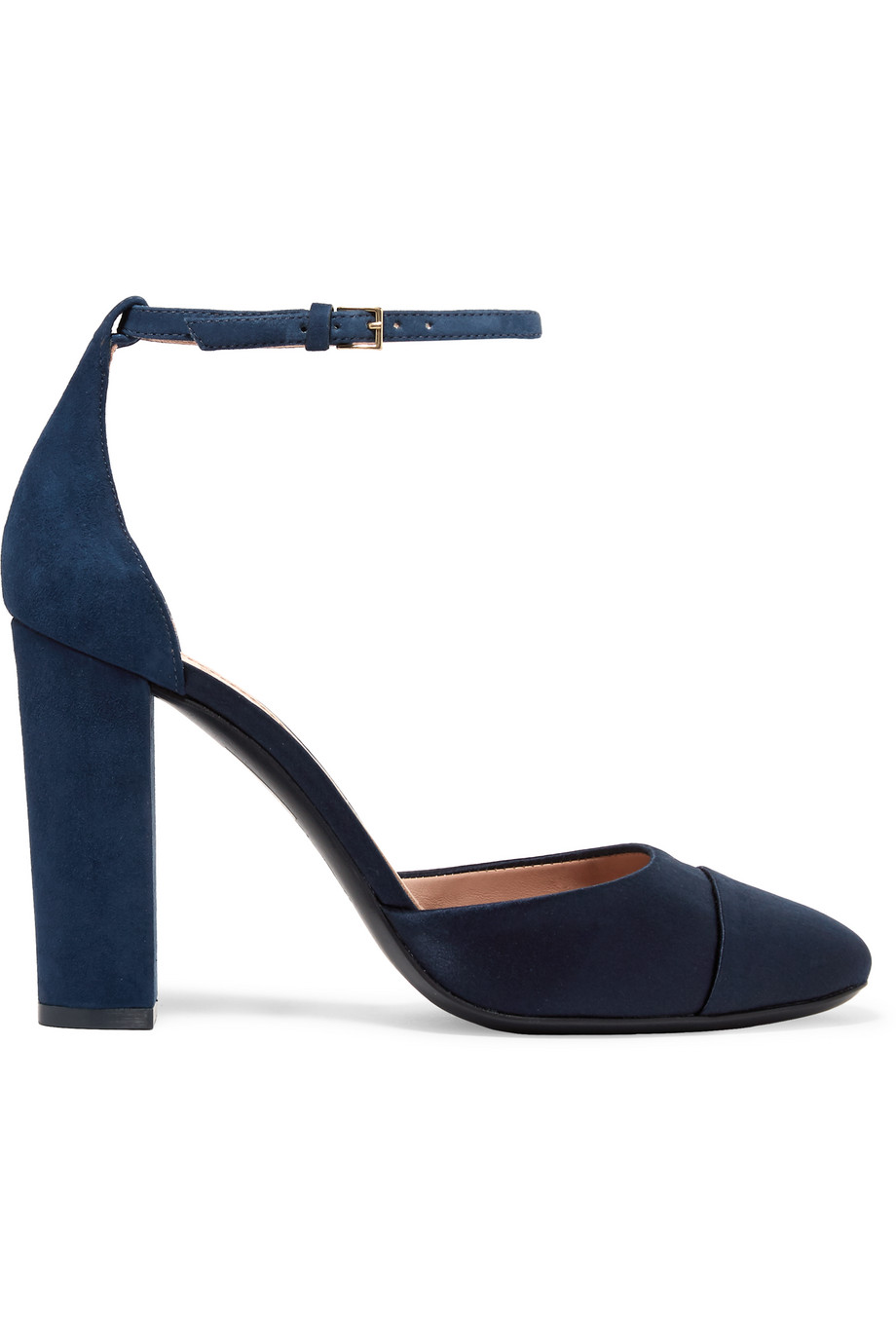 Tory Burch Rousseau Suede and Satin Pumps, Navy, Women's, Size: 7.5