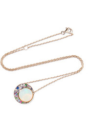 Eclipse 18-karat gray gold multi-stone necklace