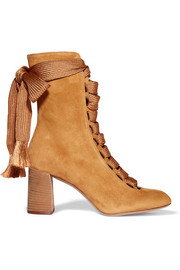 Chloé Lace-up suede boots