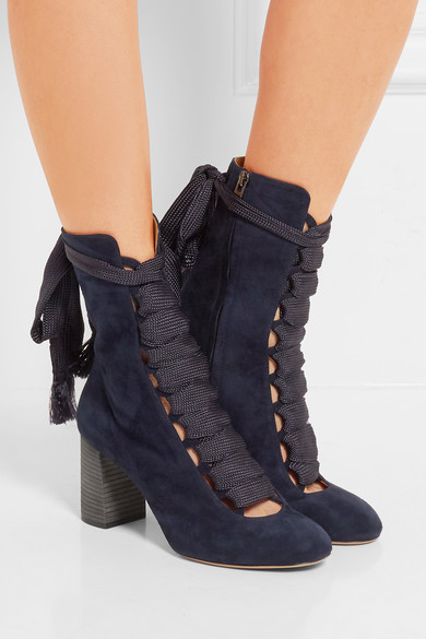 23df9c3c Lace-up suede ankle boots