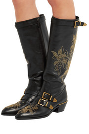 Chloé Susanna studded leather knee boots
