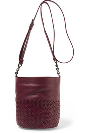 Intrecciato leather bucket bag