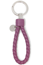 Bottega Veneta Intrecciato leather keychain