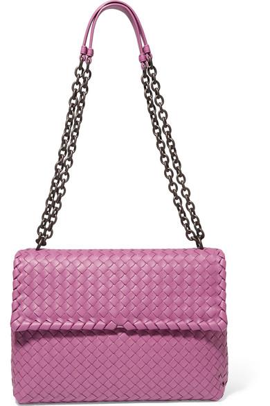 0637488a518b Bottega Veneta. Olimpia medium intrecciato leather shoulder bag