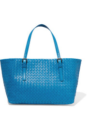 Shopper medium intrecciato leather tote