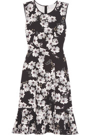 Jana floral-print stretch-crepe dress