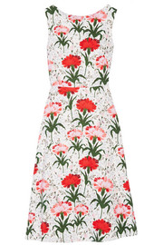 Erdem Maia floral-print cotton-blend piqué dress